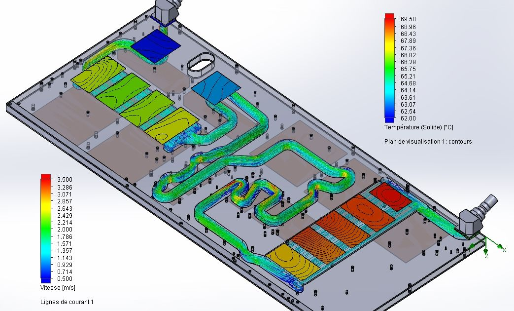 Simulation plaque froide